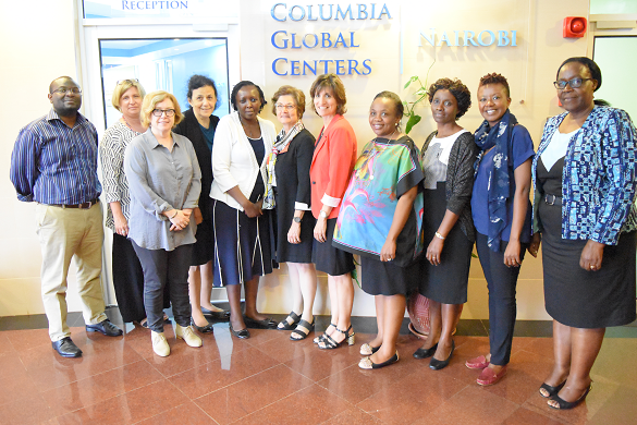 Prof.Fried with the CGC Nairobi Team