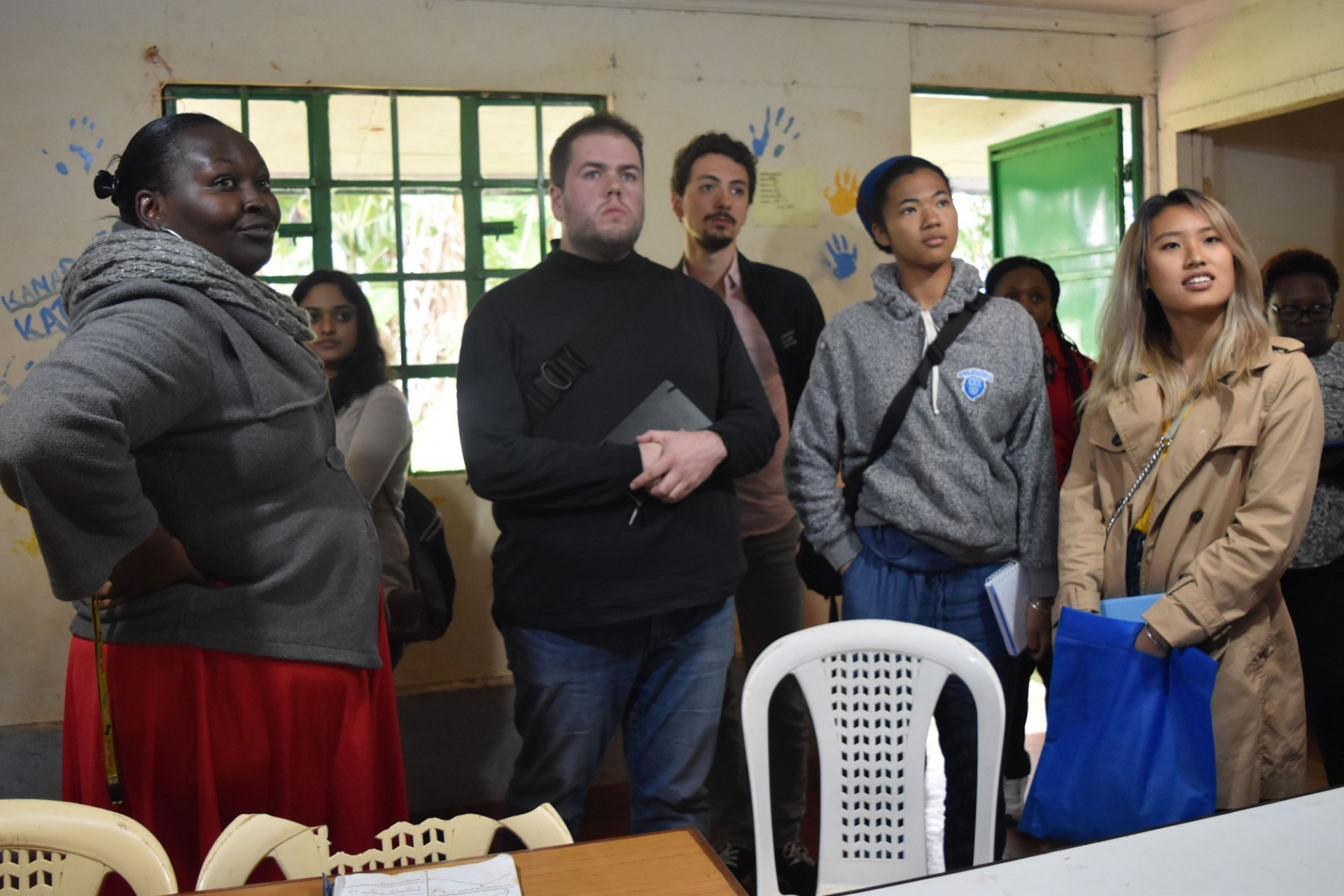Students from the Kraft Global Fellows Program during an educational trip to Nairobi, Kenya.