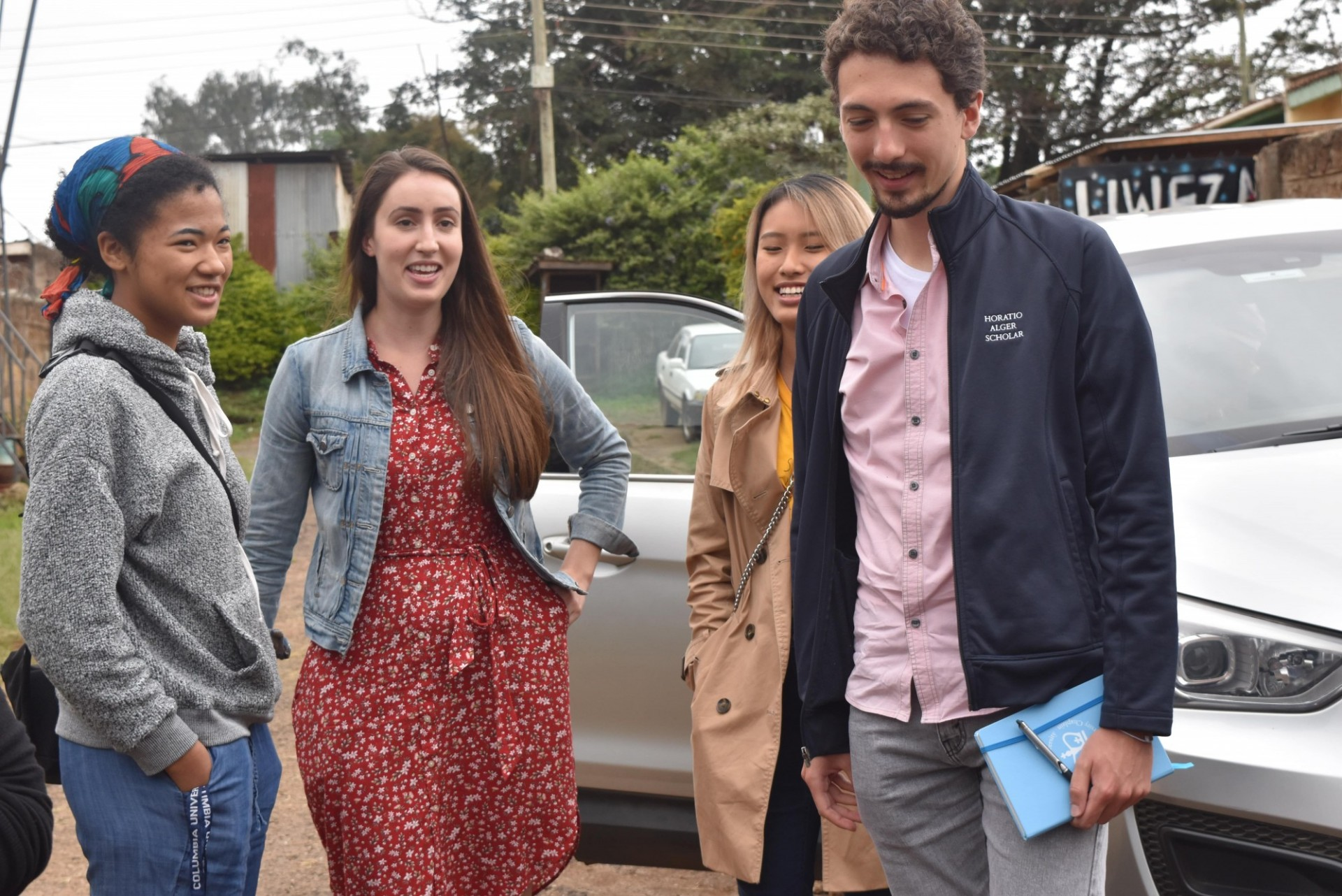 Students from the Kraft Global Fellows Program during an educational trip to Nairobi, Kenya