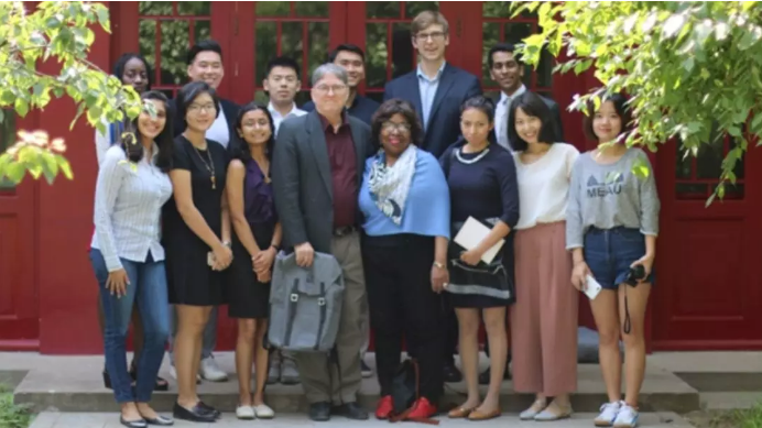 Chaplain Davis and Kraft Global Fellows at Yenching Academy of Peking university