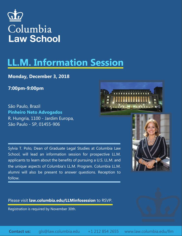 Info Session Columbia Law School