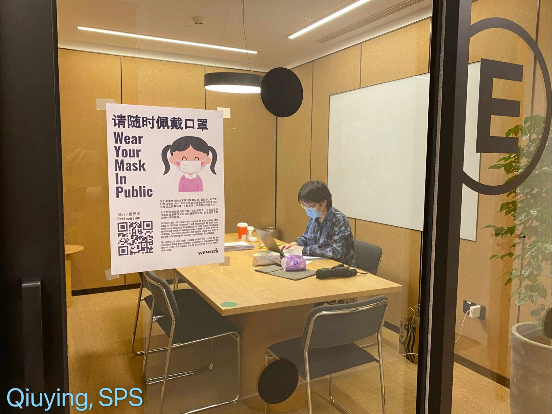 SPS Student studying in private office