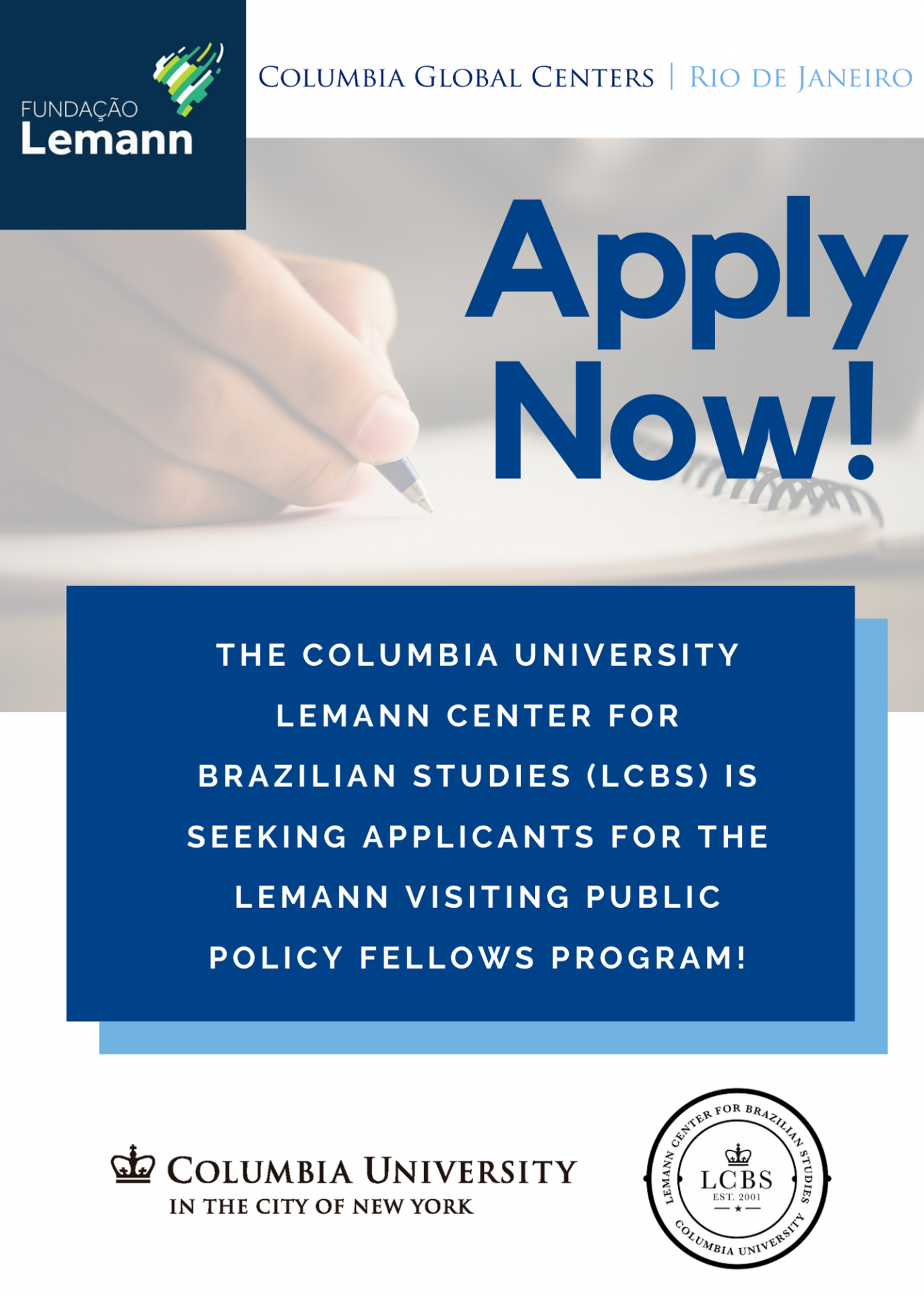 Lemann Visiting Public Policy Fellows Program at Columbia University Call for Applications
