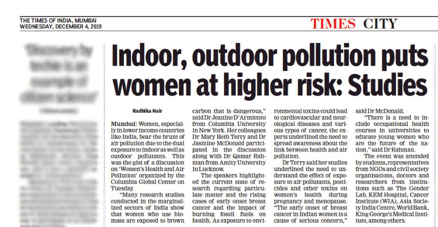 Times of India - Air Pollution