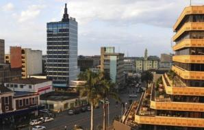 Aerial view of downtown Nairobi