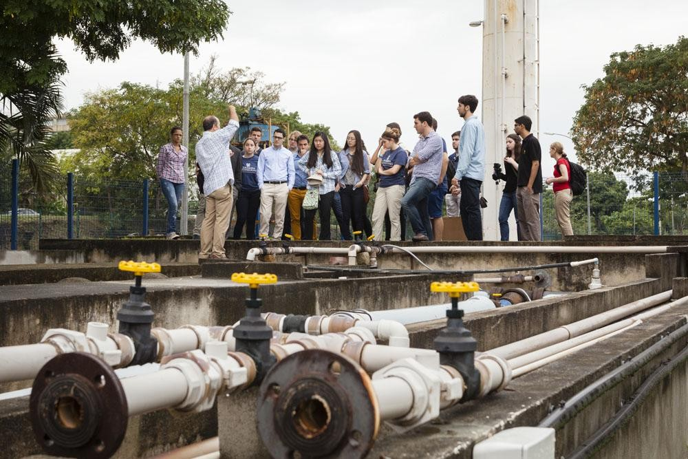 students on field trip in Rio