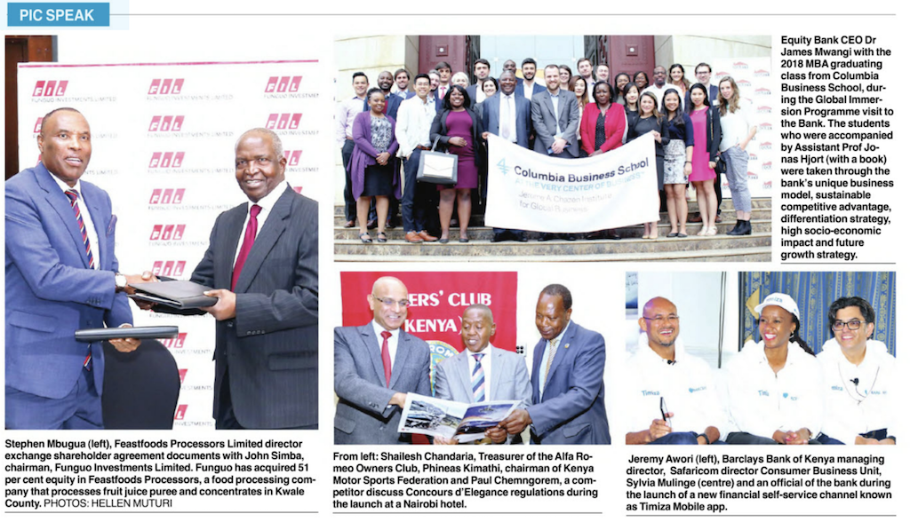 Pic Speak: Columbia Business School Immersion Program meets Equity Bank CEO