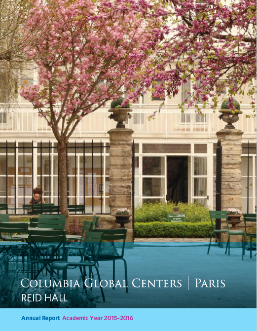 Columbia Global Centers | Paris Annual Report