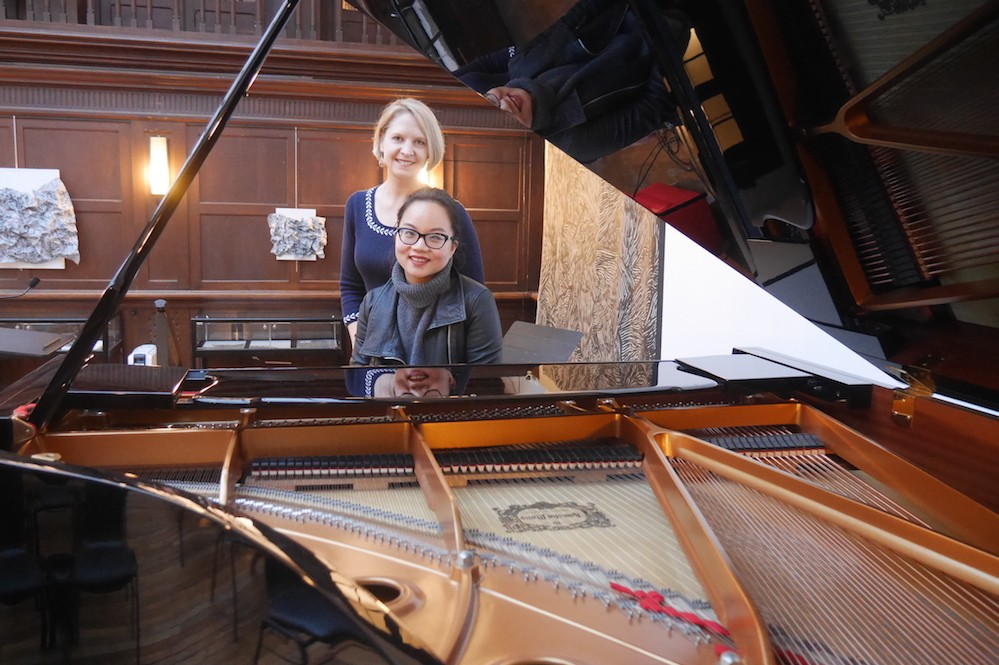 Cindy Liu and Natalia Ermolaev at the piano