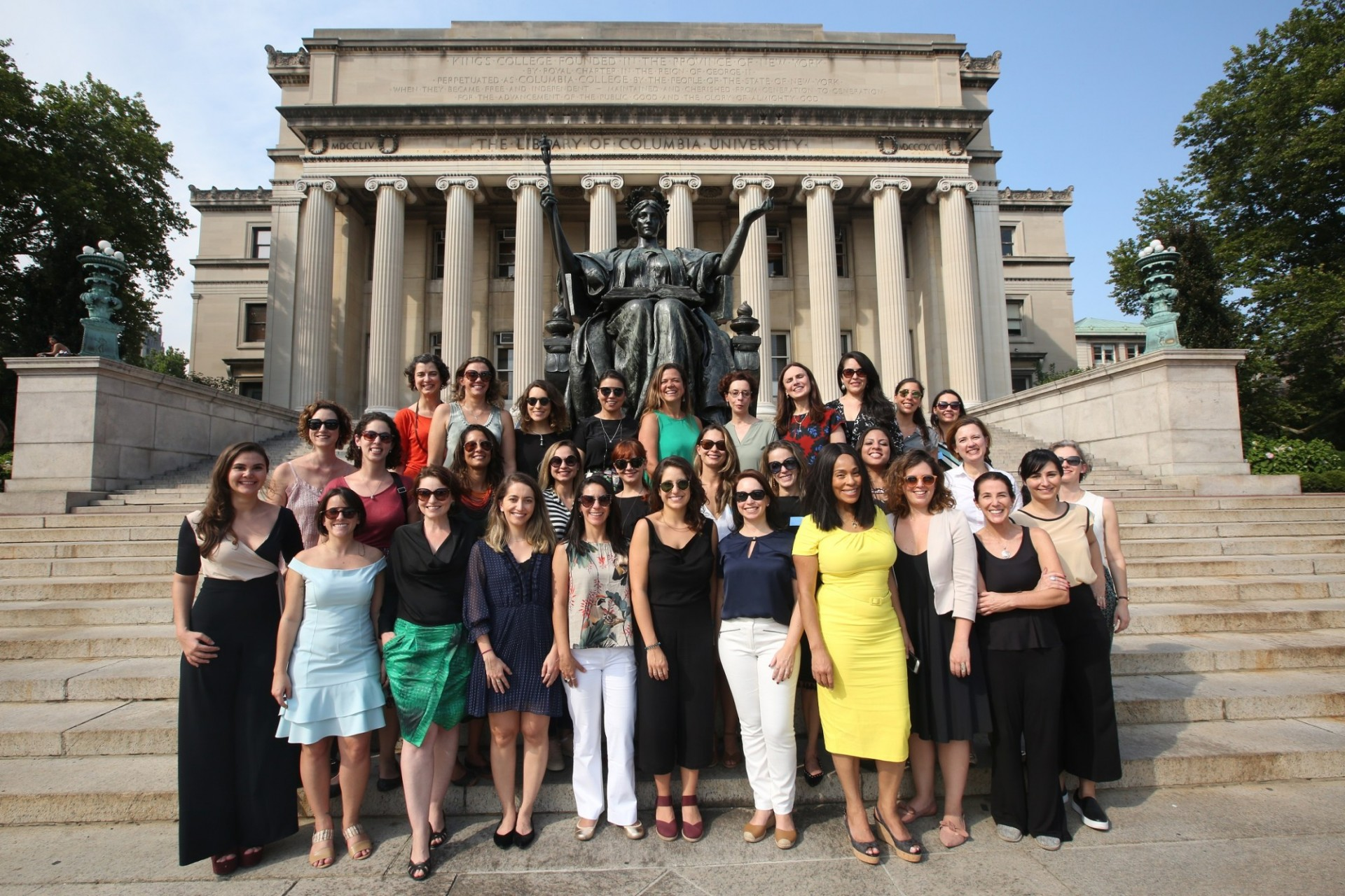 Participants of the Columbia Women's Leadership program in NY