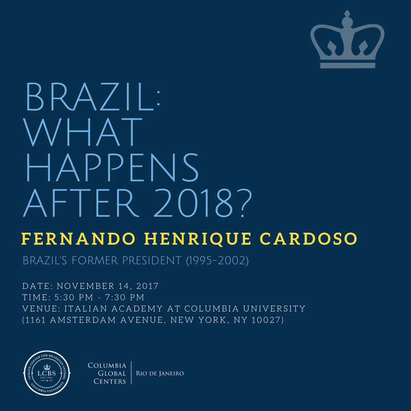 Invitation to the event with Fernando Henrique Cardoso, Brazil's former president, on campus on Nov. 14