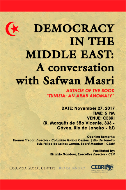 Democracy in the middle east a conversation with safwan masri invitation to a conversation with safwan masri about democracy in tunisia and his new book stopboris Gallery