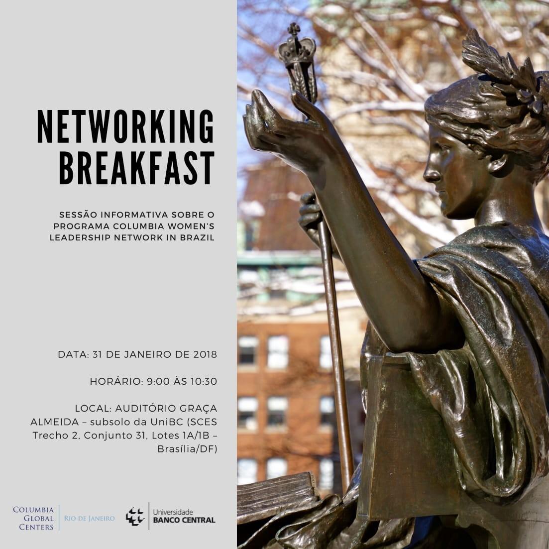 Invitation the Networking Breakfast: Columbia Women's Leadership Network in Brazil