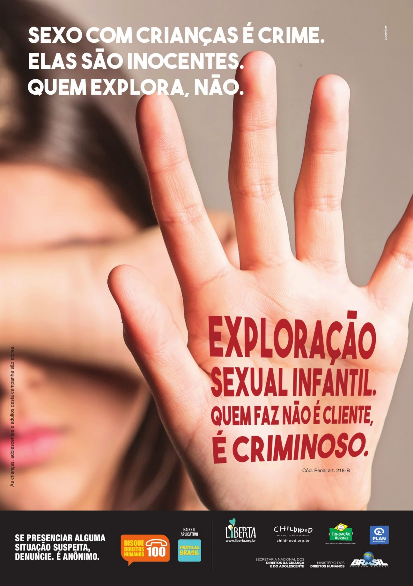 Liberta Institute's advertising campaign to fight the sexual exploitation of children
