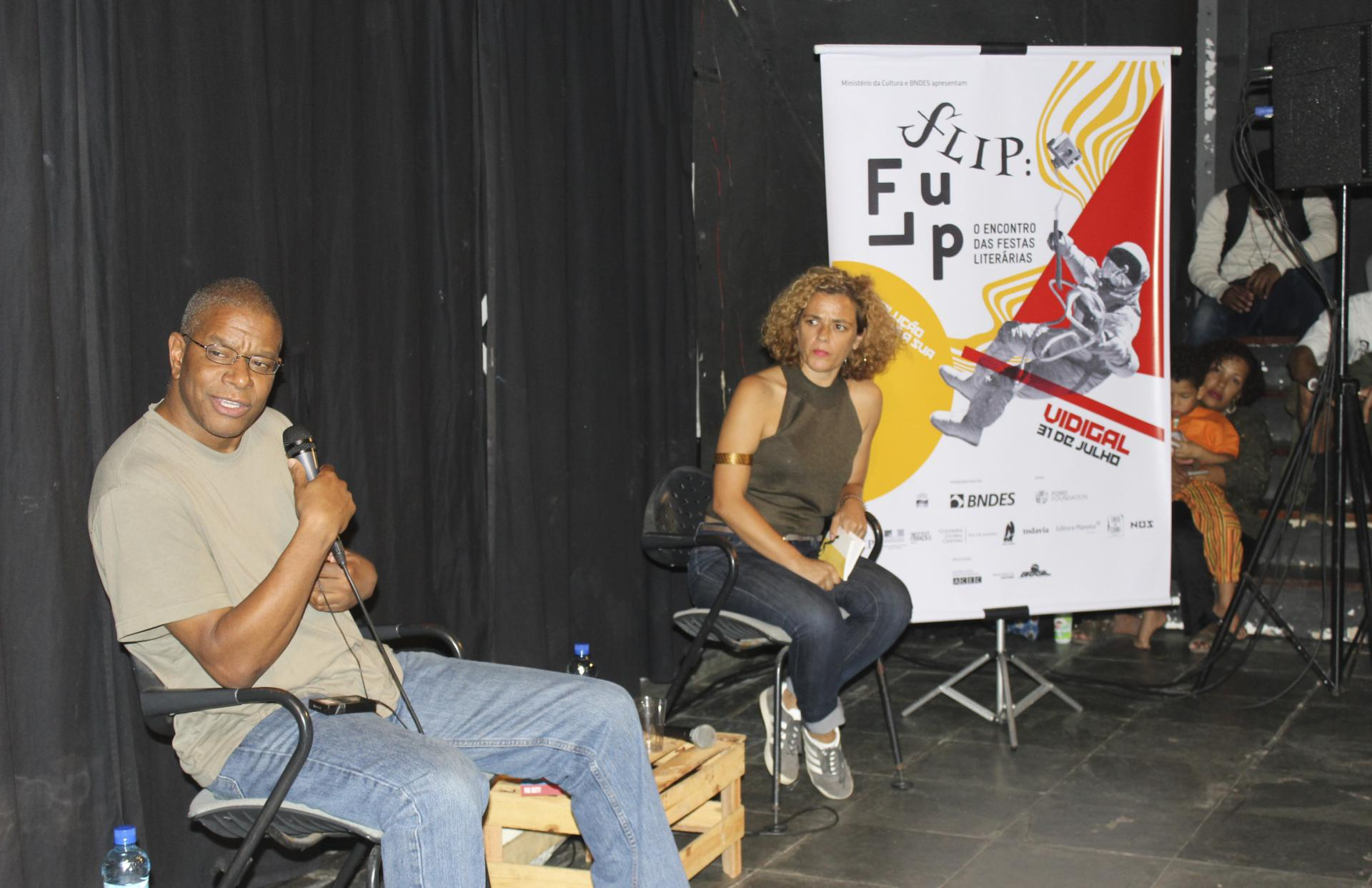 Professor Paul Beatty during the roundtable about racism at FLUP