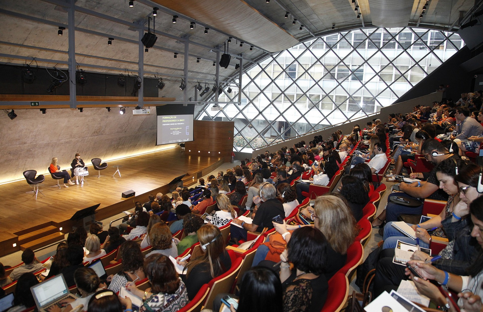 Picture from Rio Center's 5th anniversary on March 2018. The photo shows a full-house audience