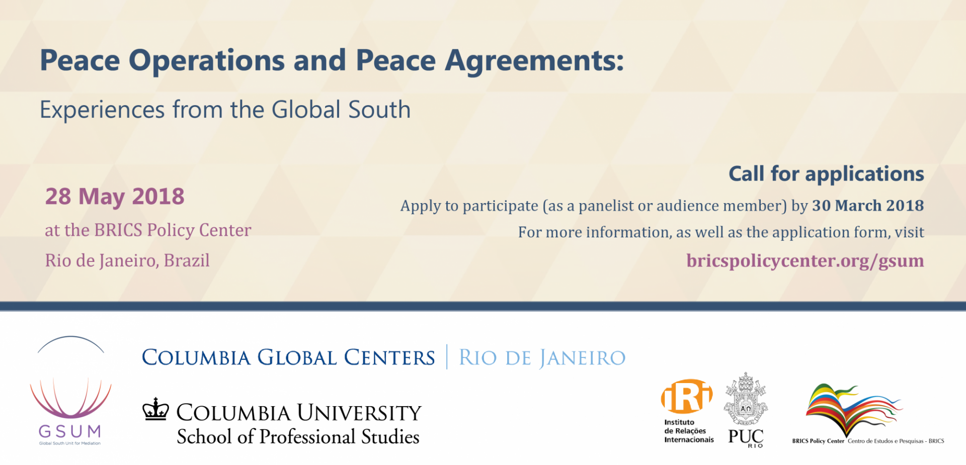 Peace Operations and Peace Agreements
