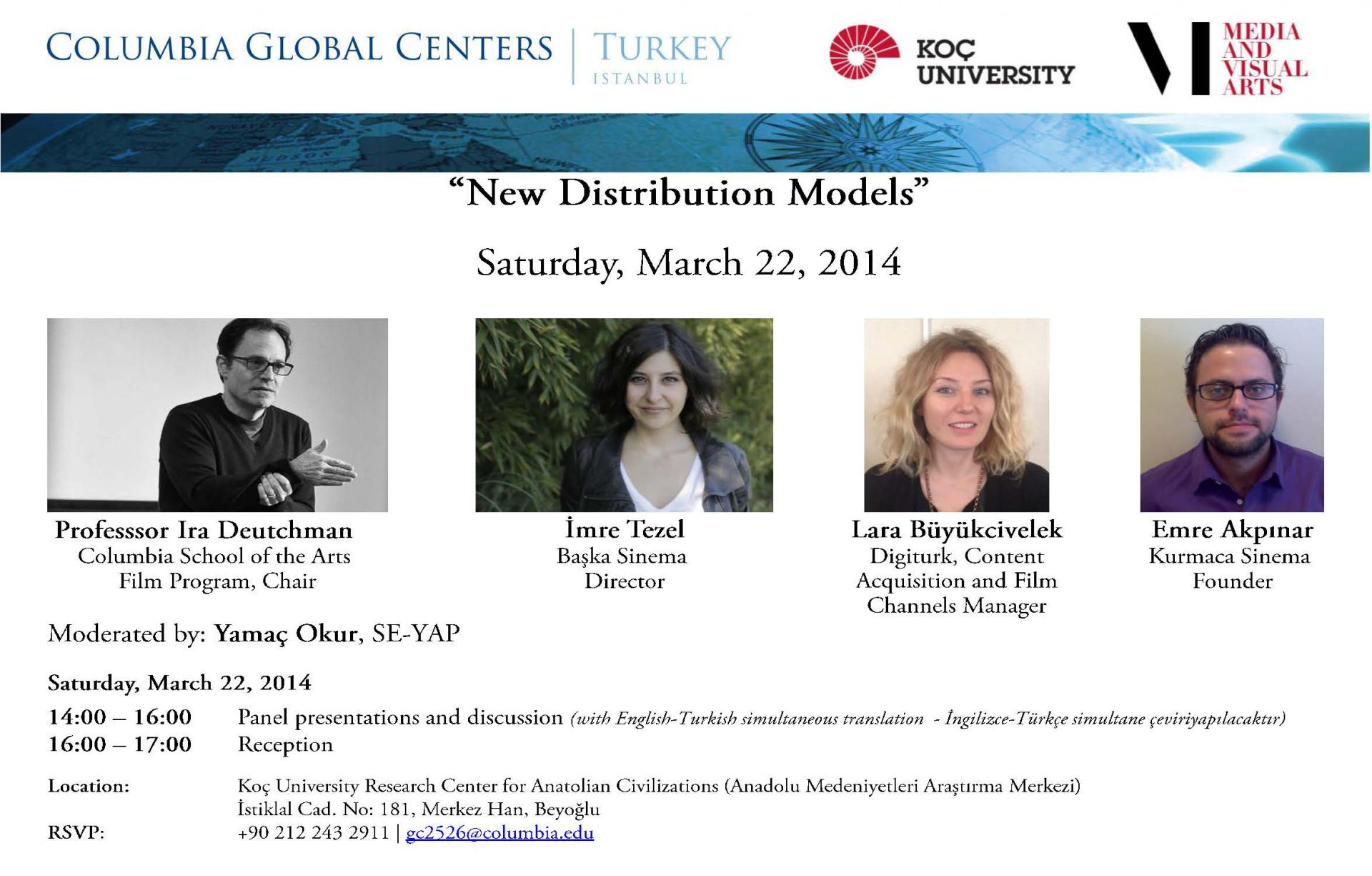 New Distribution Models: A Public Discussion with Prof. Ira Deutchman of the Film Program