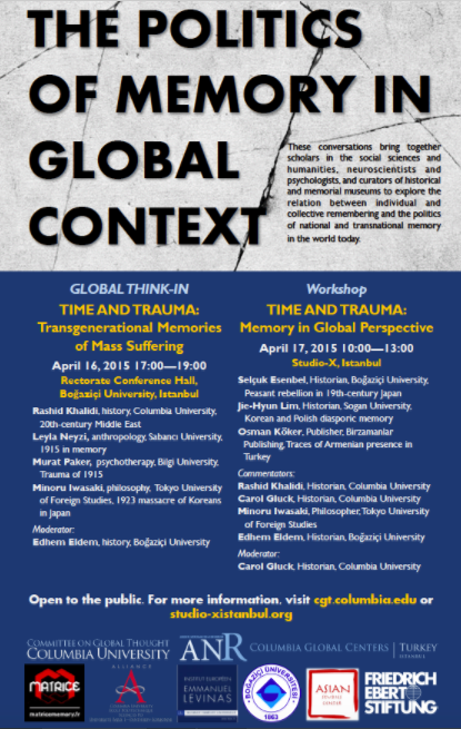 Global Think-In: Time and Trauma - Transgenerational Memories of Mass Suffering