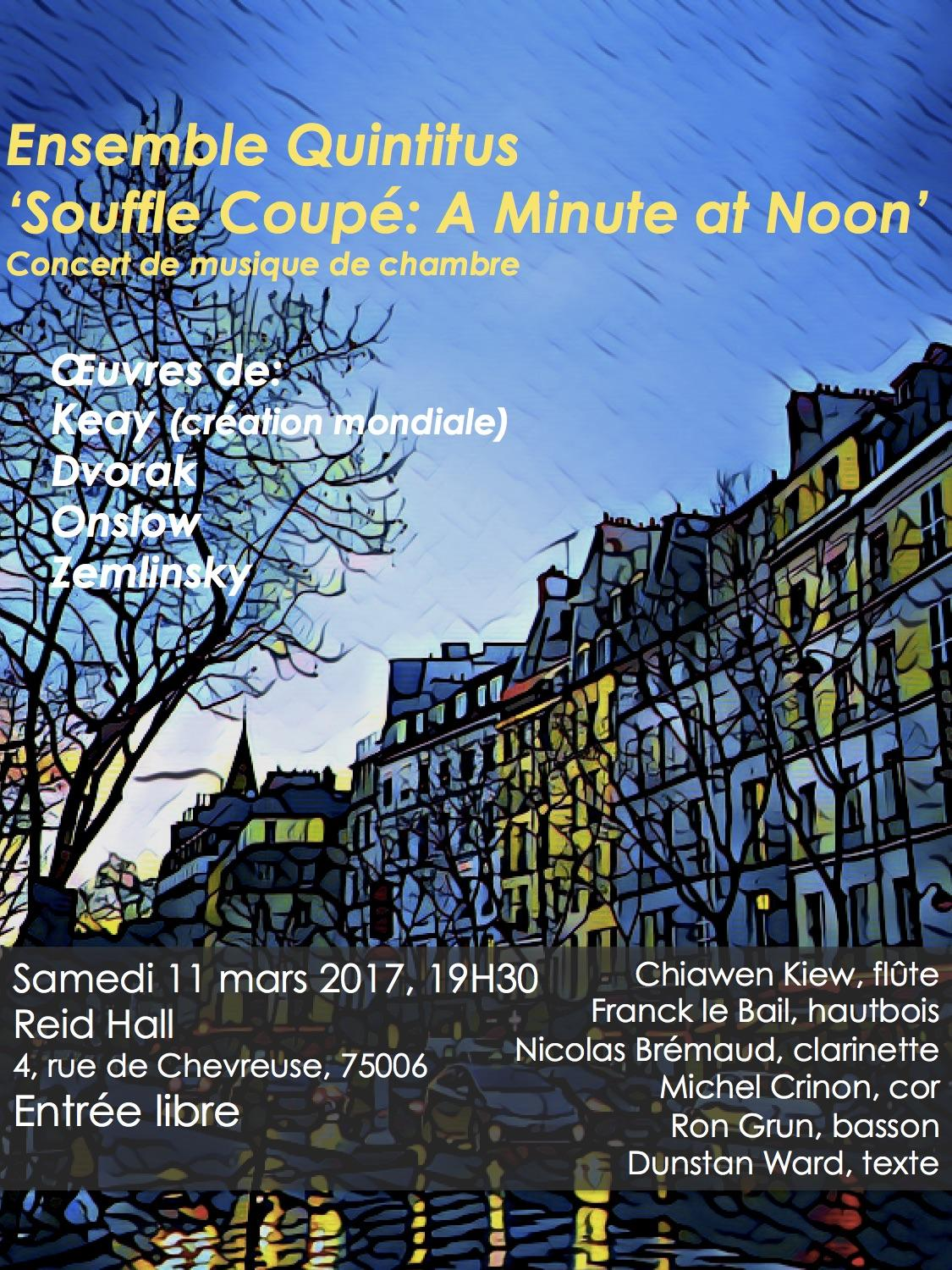 Concert: Souffle Coupé...A Minute at Noon