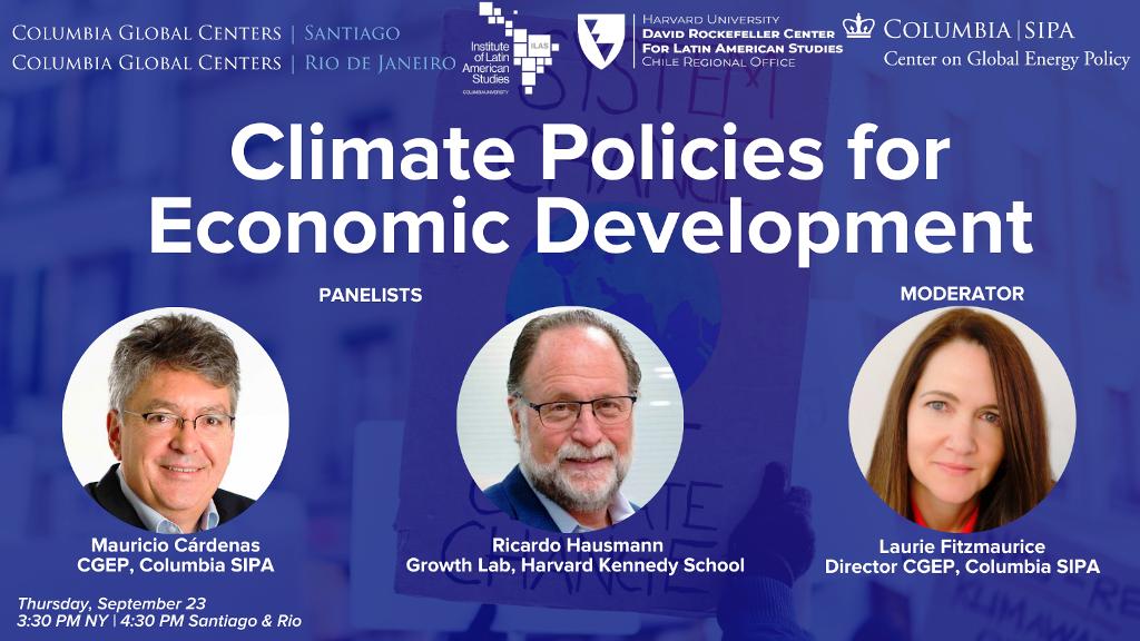 Climate Policies for Economic Development