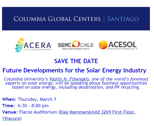 Conference: Future Developments for the Solar Energy Industry