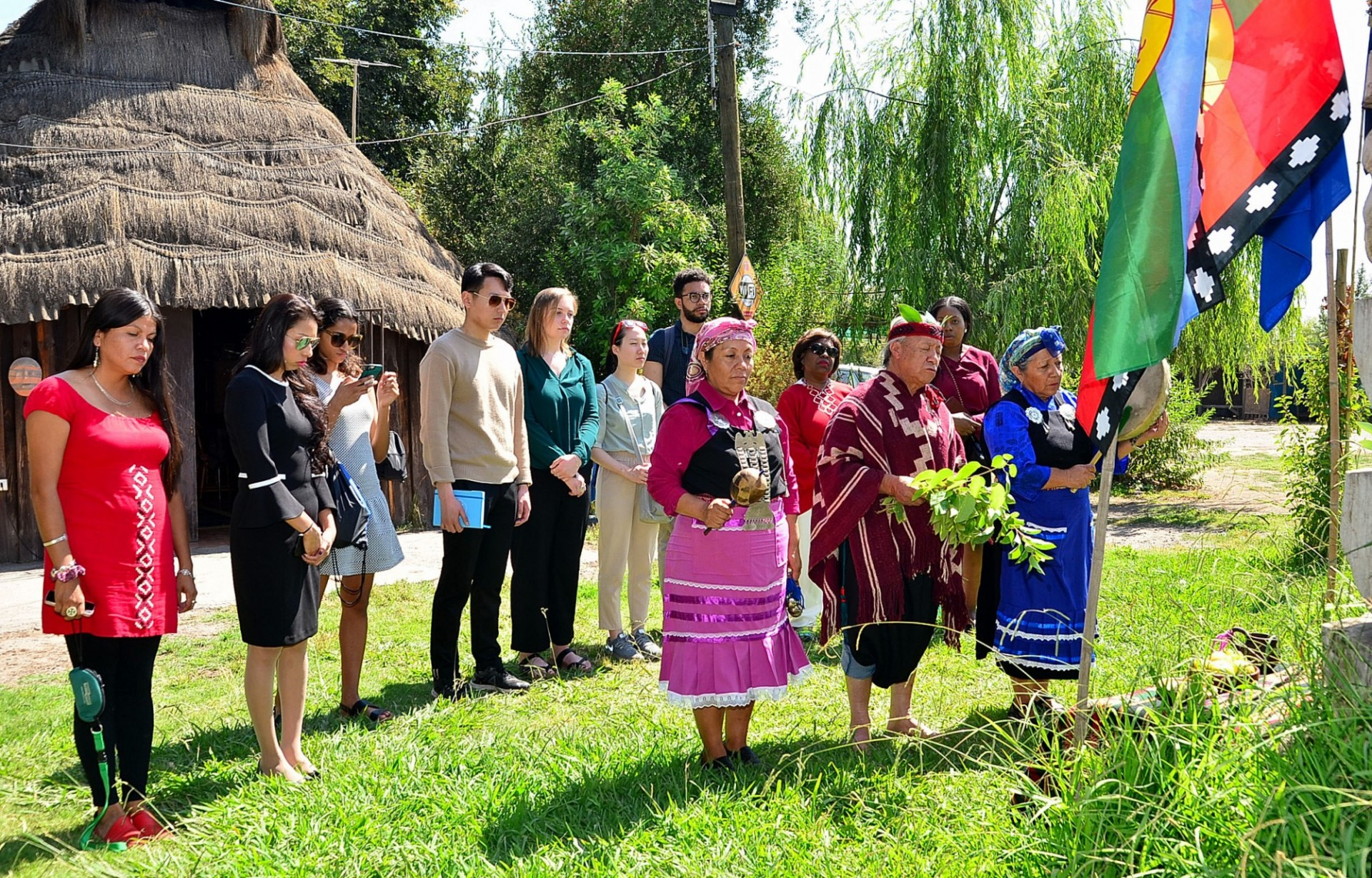 The group at the Mapuche community