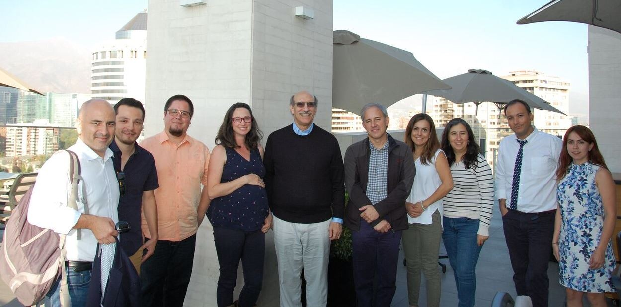 Dr. Chalfie and the group of Chilean scientists