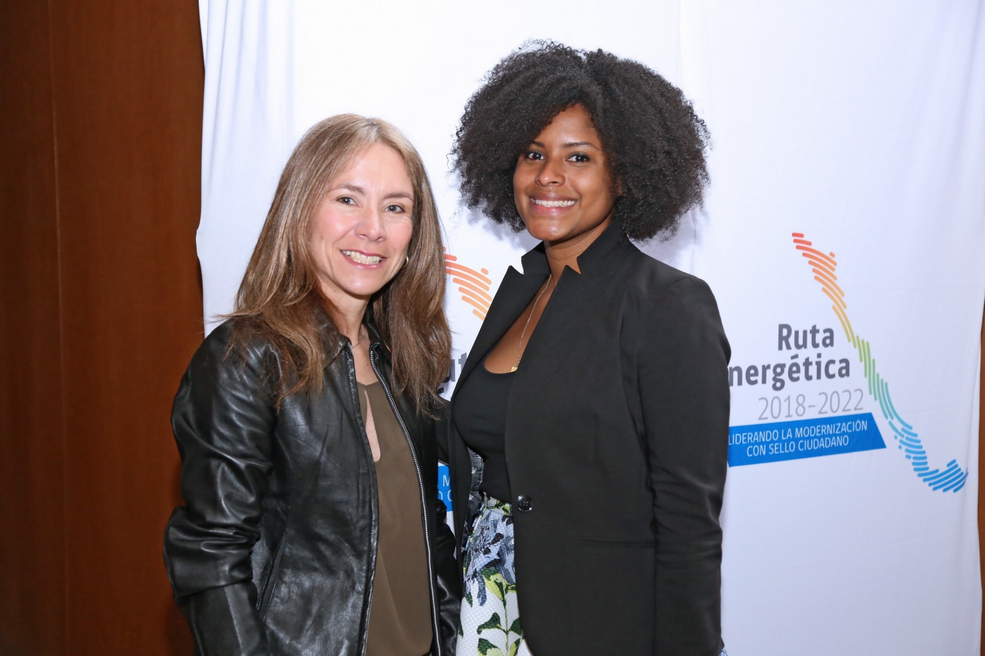 Susana Jiménez, Chile's Minister of Energy, and Jully Meriño, director of the Women in Energy Program at Columbia