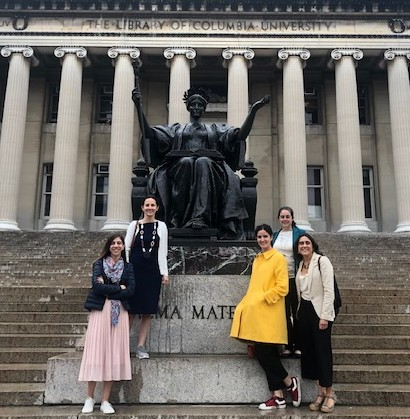 The five Chilean Alumnae on Campus