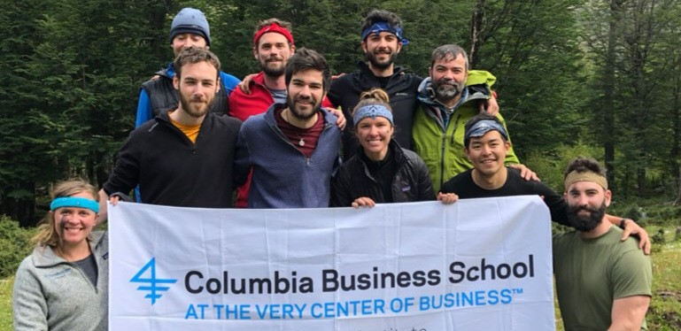 Columbia Business School (CBS) students on a 10-day backpacking expedition to the Chilean Patagonia