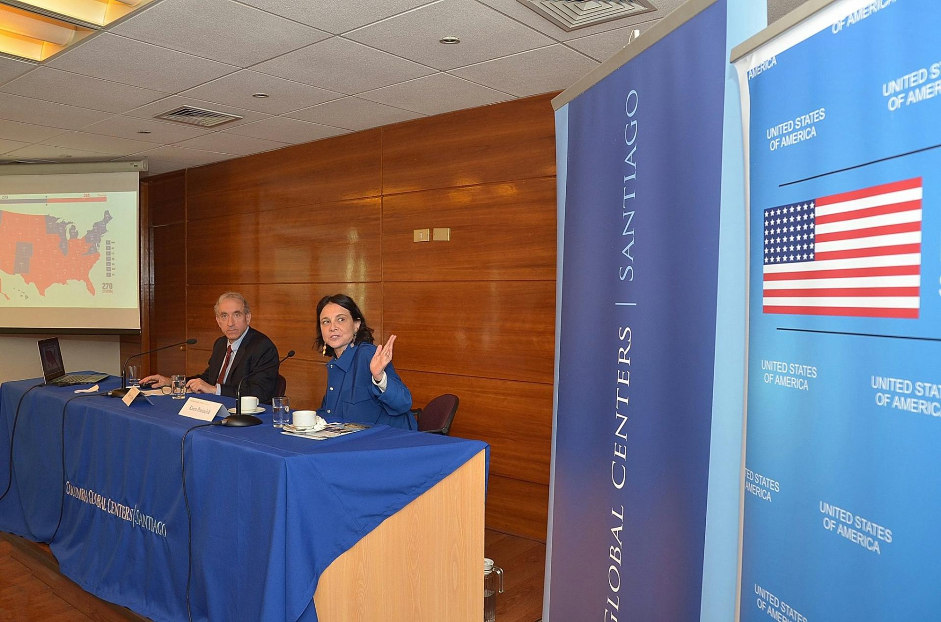 Professor Robert Y. Shapiro; and Karen Poniachik, Director of Columbia Global Centers l Santiago.