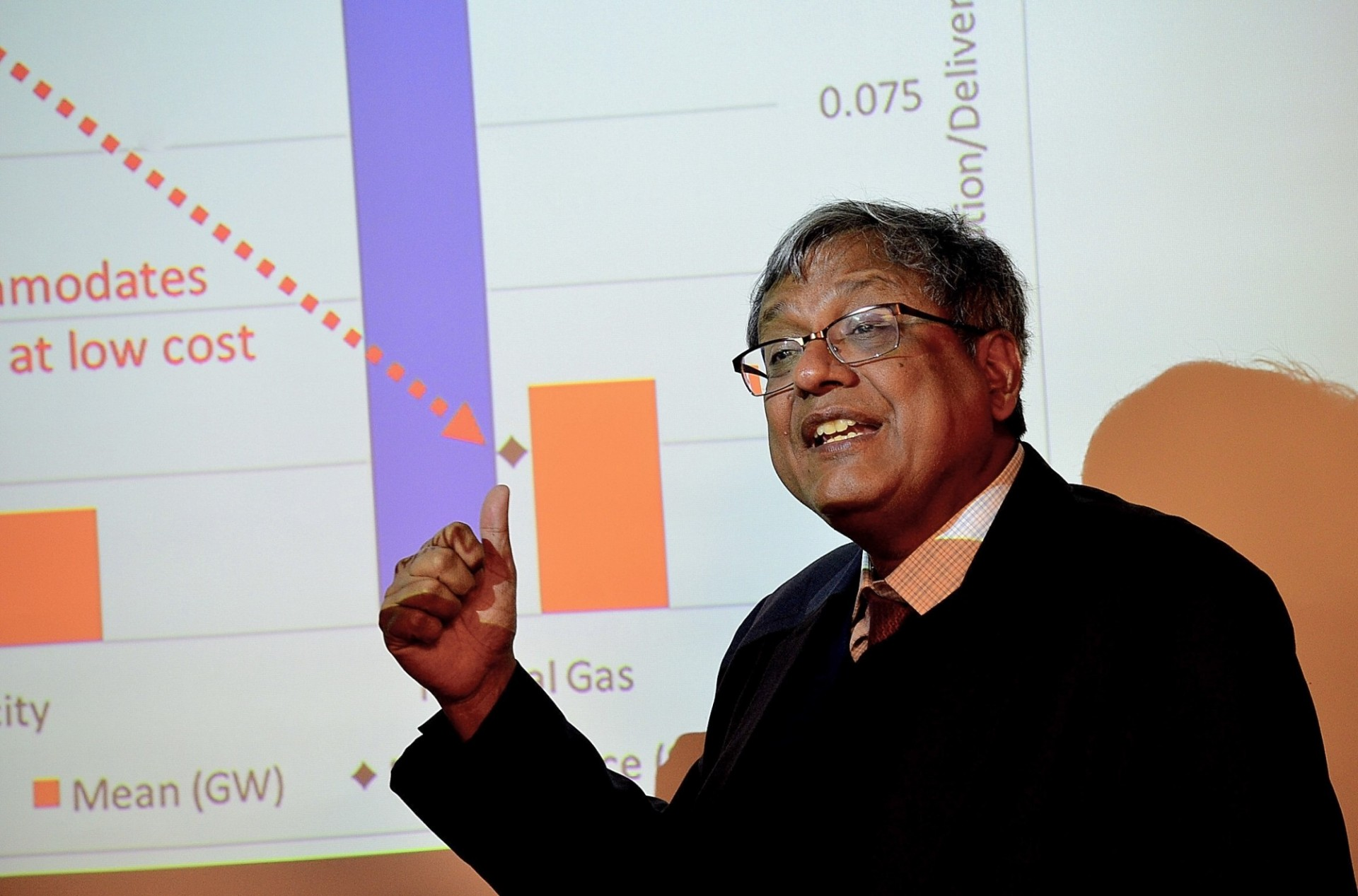Vijay Modi presenting Energy Planning with Low-priced Wind and Solar