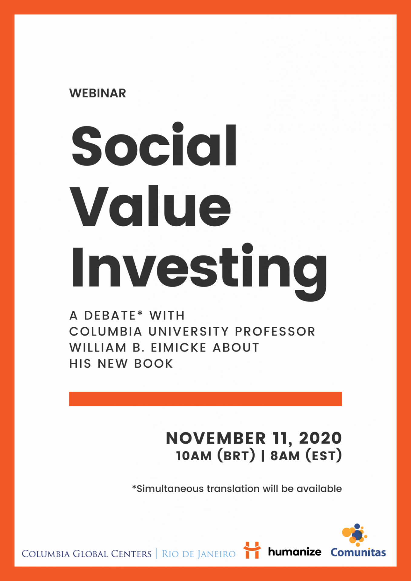 social value investing by william b. eimicke